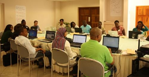 Participants at Multimedia Course